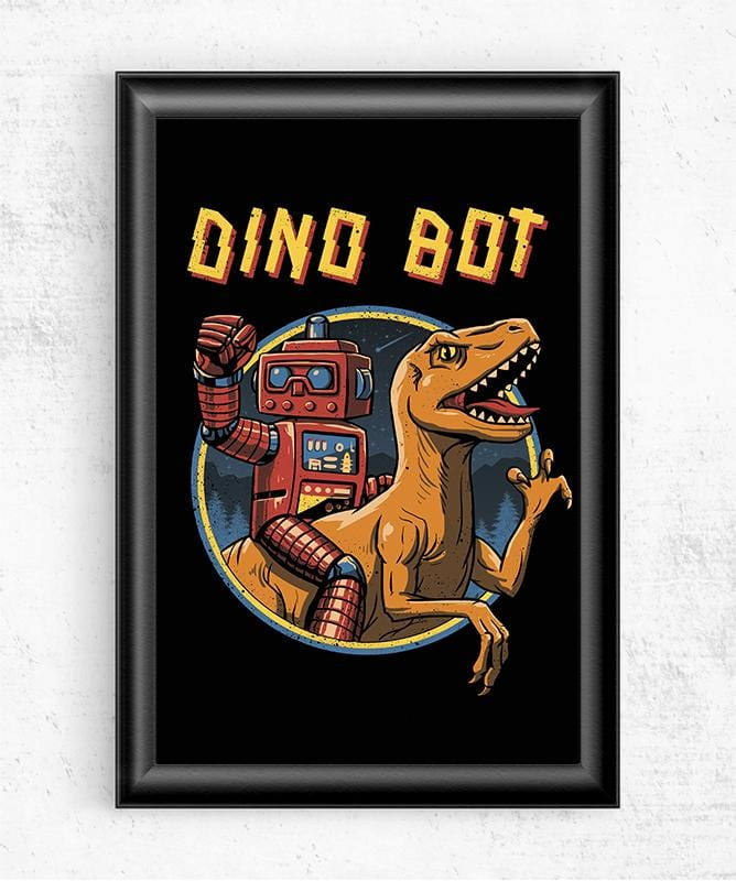 Dino Bot Posters by Vincent Trinidad - Pixel Empire