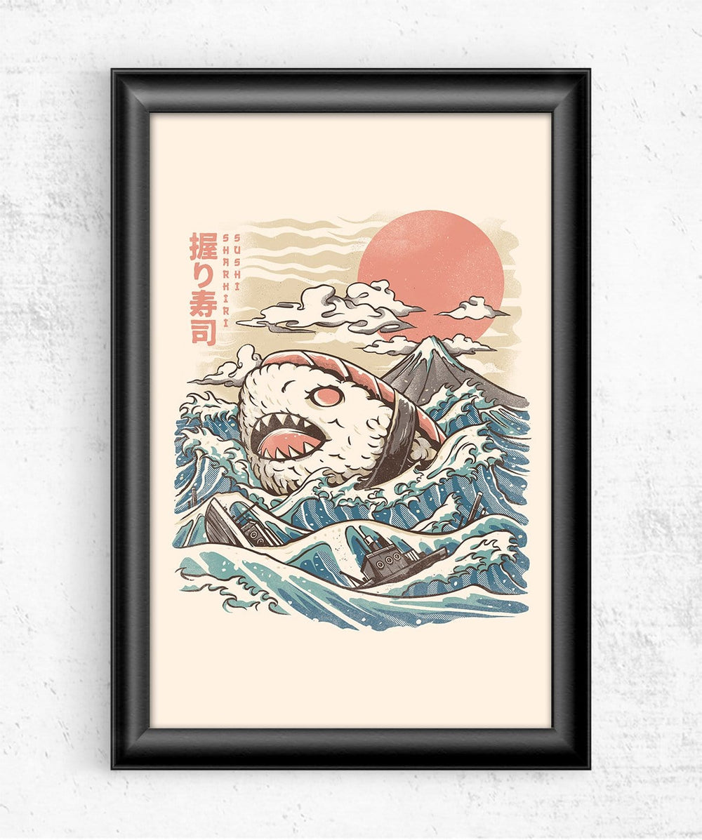 Sharkiri Sushi Posters by Ilustrata - Pixel Empire