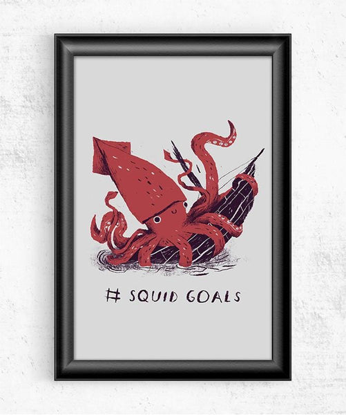 Squid Goals Posters by Louis Roskosch - Pixel Empire
