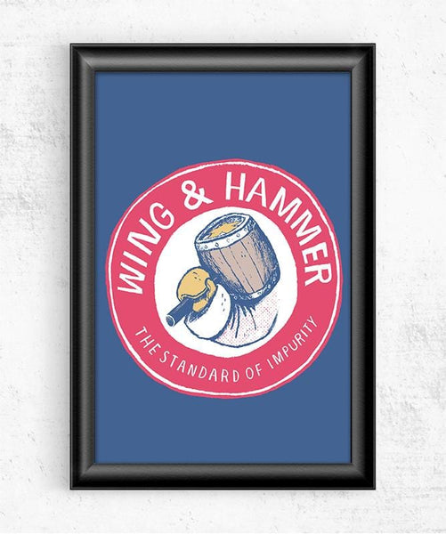 Wing & Hammer Posters by Louis Roskosch - Pixel Empire