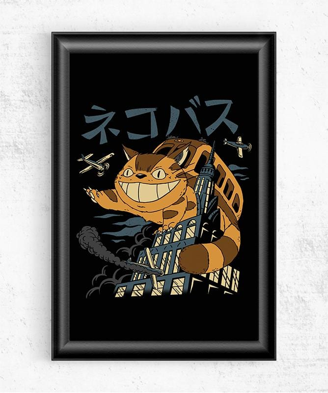 Cat Bus Kong Posters by Vincent Trinidad - Pixel Empire