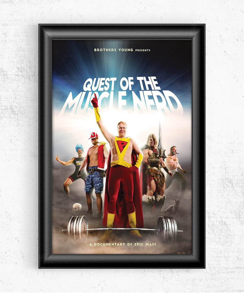 Quest of the Muscle Nerd Poster Posters by Muscle Nerd - Pixel Empire