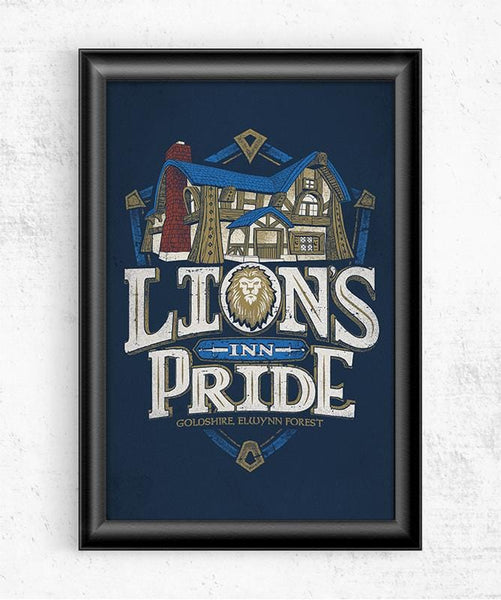 Lion's Pride Inn Posters by Cory Freeman Design - Pixel Empire