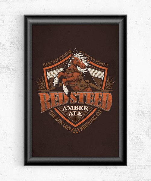 Red Steed Ale Posters by Cory Freeman Design - Pixel Empire