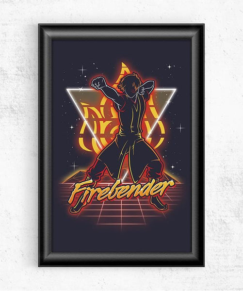 Retro Firebender Posters by Olipop - Pixel Empire