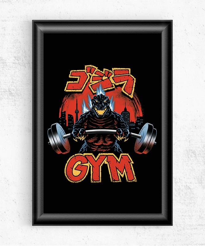 Zilla Gym Posters by Vincent Trinidad - Pixel Empire