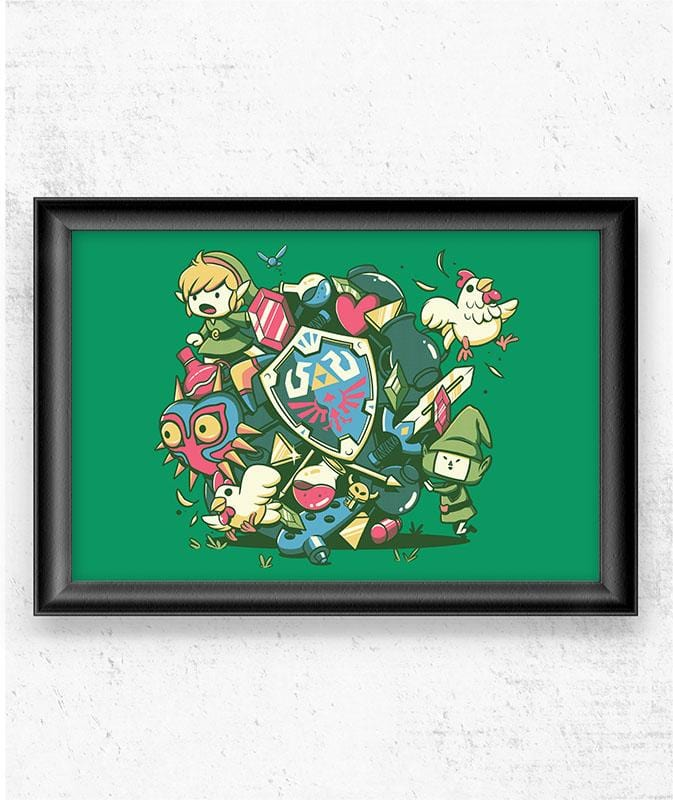 Let's Roll Link Posters by Ilustrata - Pixel Empire