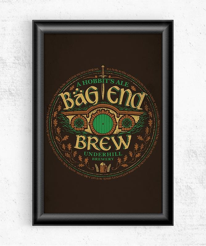 Bag End Brew Posters by Cory Freeman Design - Pixel Empire