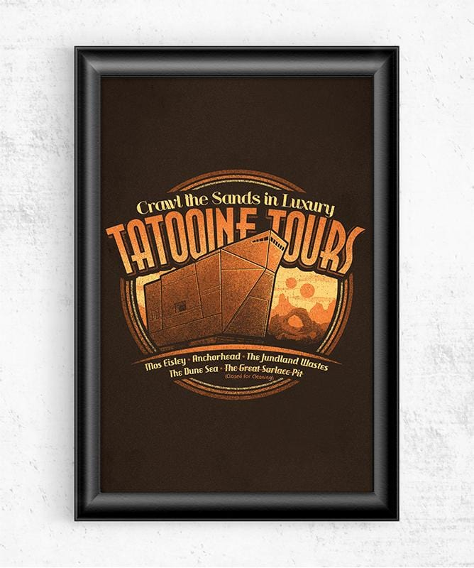 Tatooine Tours Posters by Cory Freeman Design - Pixel Empire