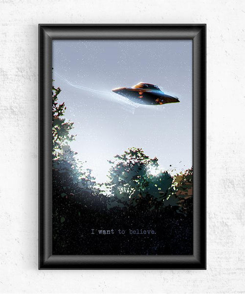 I Want To Believe Posters by Nikita Abakumov - Pixel Empire