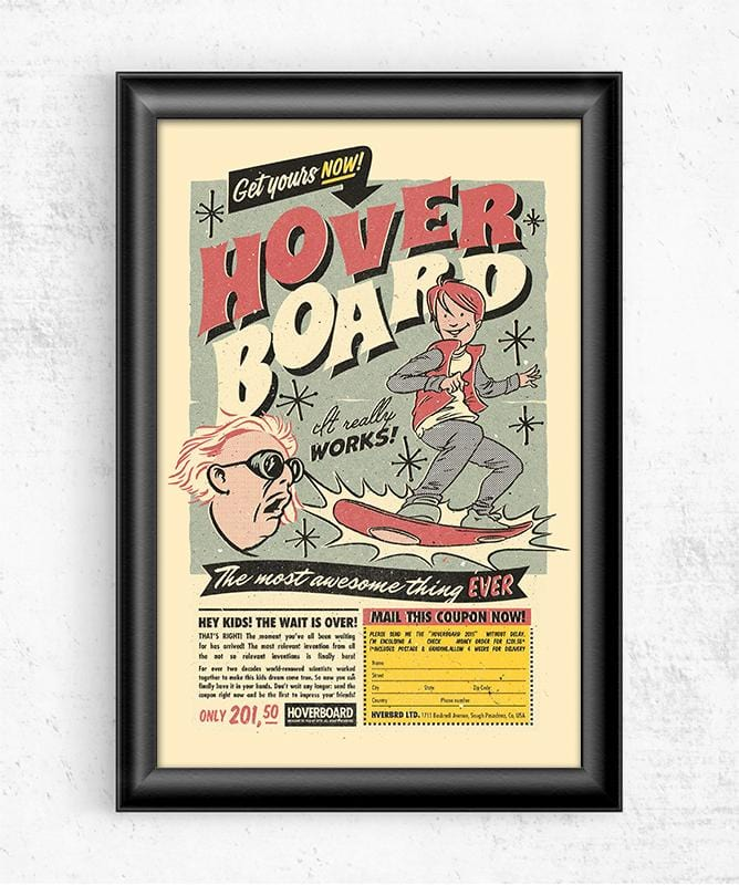 Hoverboard Posters by Mathiole - Pixel Empire