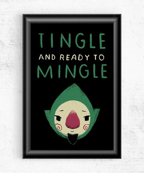 Tingle and Ready to Mingle Posters by Louis Roskosch - Pixel Empire