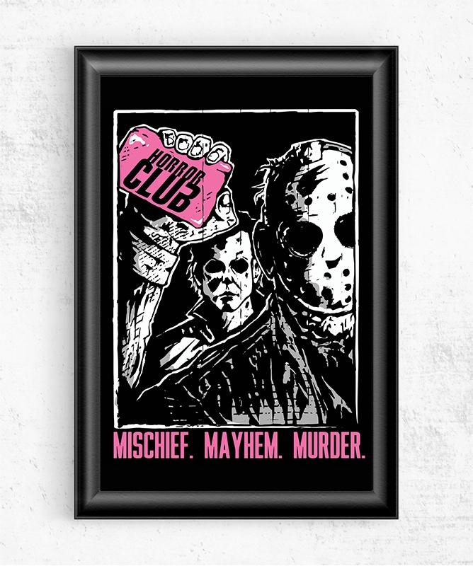 Horror Club Posters by Tee No Evil - Pixel Empire