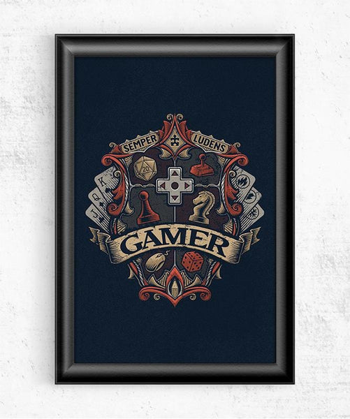Gamer Crest Posters by Cory Freeman Design - Pixel Empire