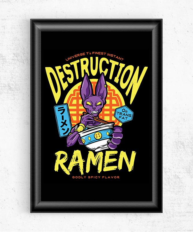 Destruction Ramen Posters by Barrett Biggers - Pixel Empire
