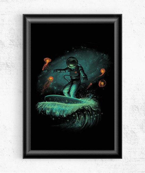 Space Surfer Posters by Vincent Trinidad - Pixel Empire