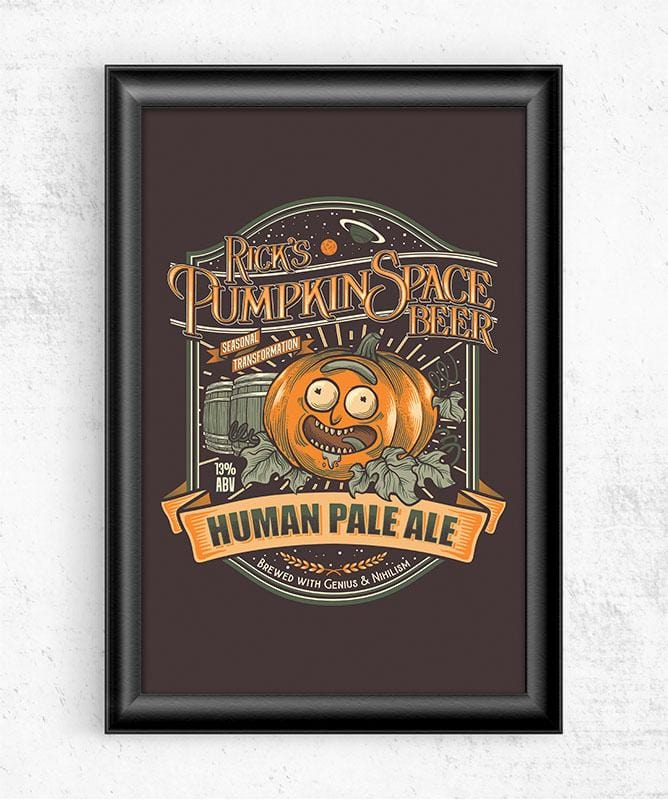 Rick's Pumpkin Space HPA Posters by Diego Pedauy - Pixel Empire