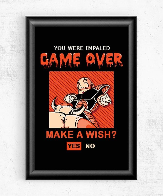 Game Over Krillin Posters by COD Designs - Pixel Empire