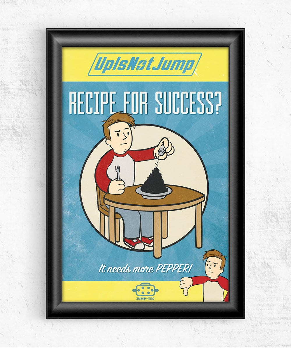 Recipe For Success? Posters by UpIsNotJump - Pixel Empire