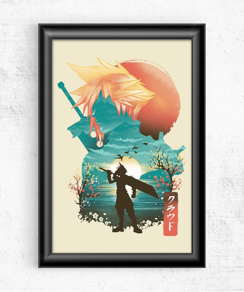 Final Fantasy Ukiyo Cloud Posters by Dan Elijah Fajardo - Pixel Empire