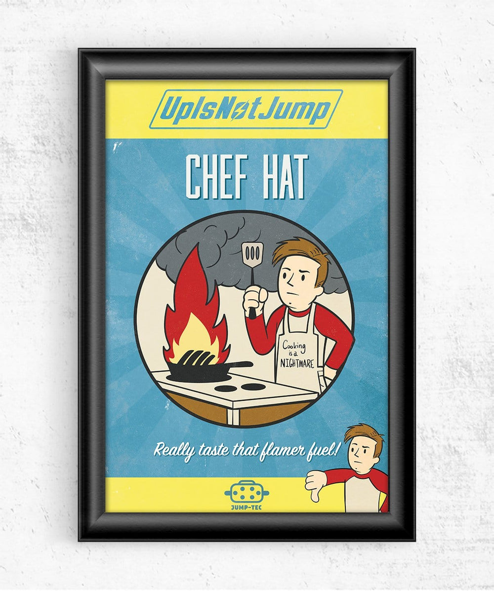 Chef Hat Posters by UpIsNotJump - Pixel Empire