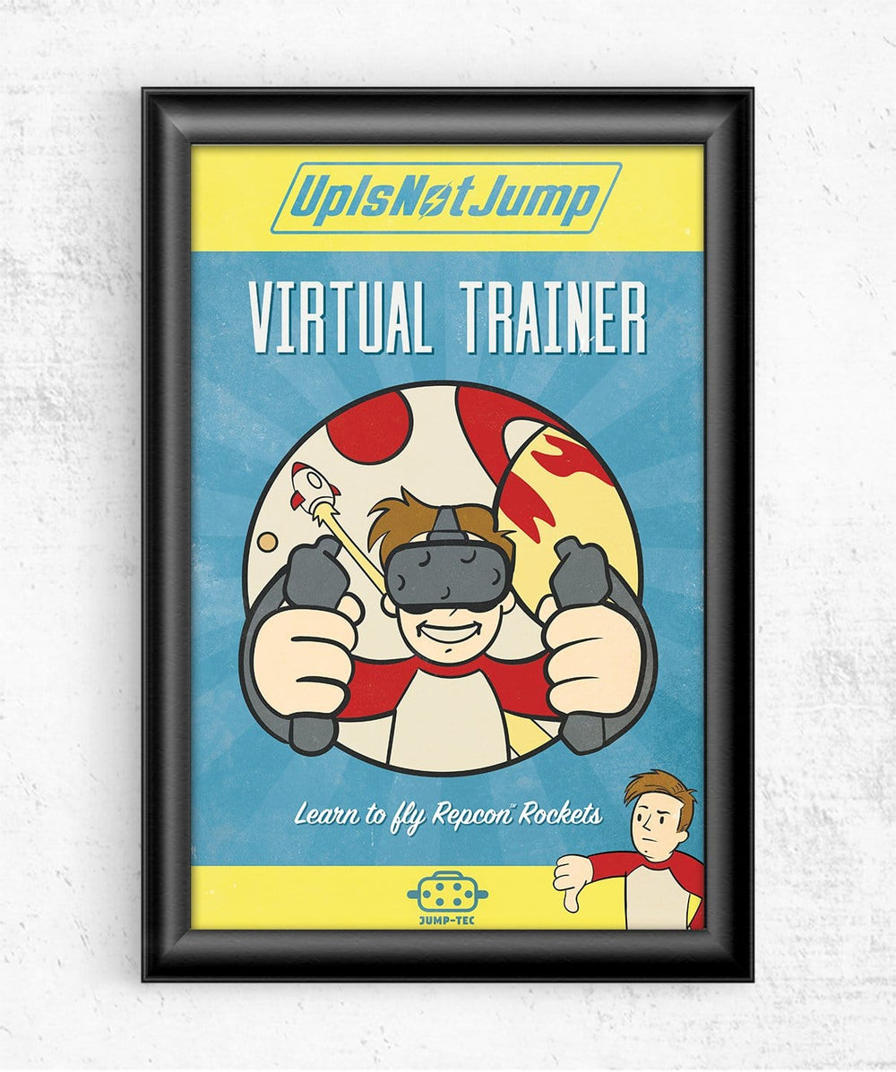Virtual Trainer Posters by UpIsNotJump - Pixel Empire