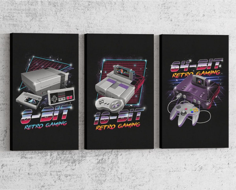 Retro Gaming Series Canvas by Vincent Trinidad - Pixel Empire