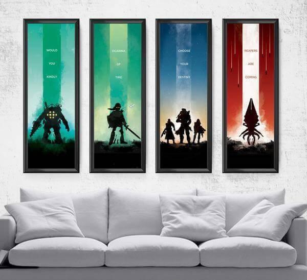 Limited Video Game Series Pick 4 Posters by Dylan West - Pixel Empire