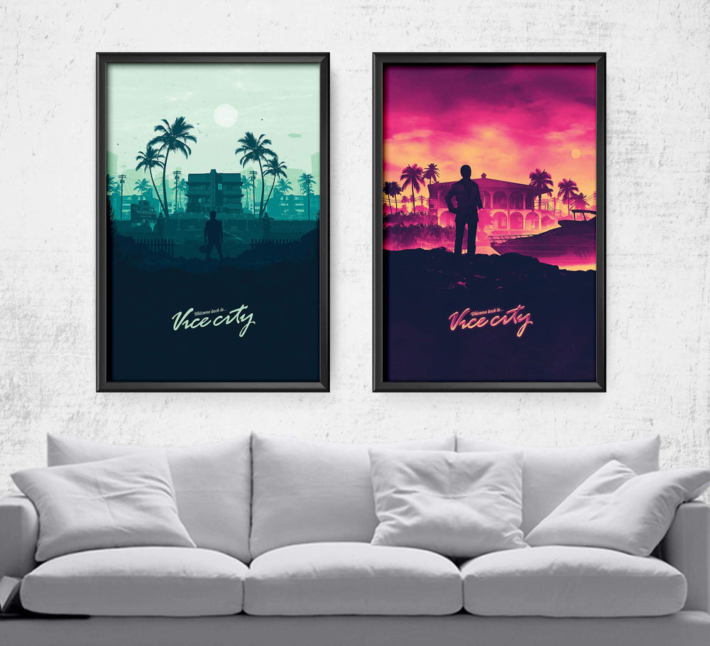 Welcome to Vice City Set Posters by Mbdsgns - Pixel Empire