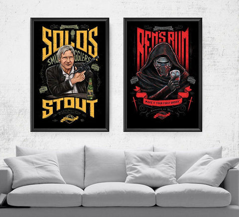 Star Wars Beverage Set Posters- The Pixel Empire