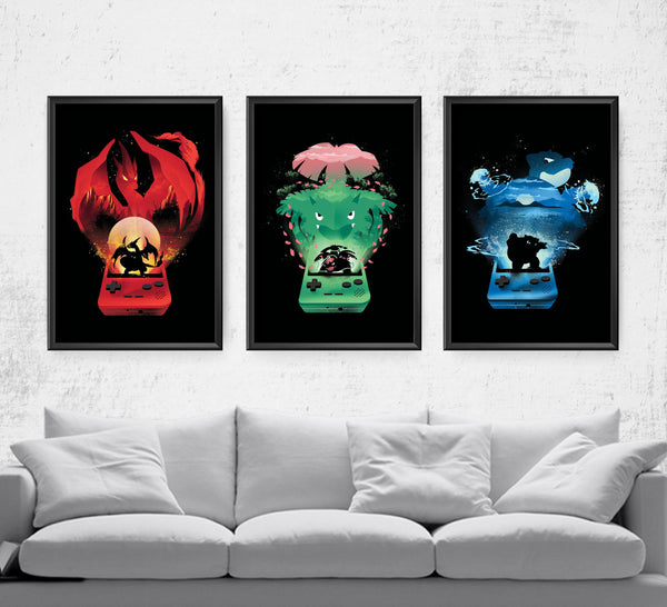 Pokemon Retro Series Posters by Dan Elijah Fajardo - Pixel Empire