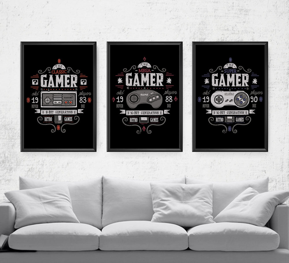 The Gamer Series Posters by Typhoonic - Pixel Empire