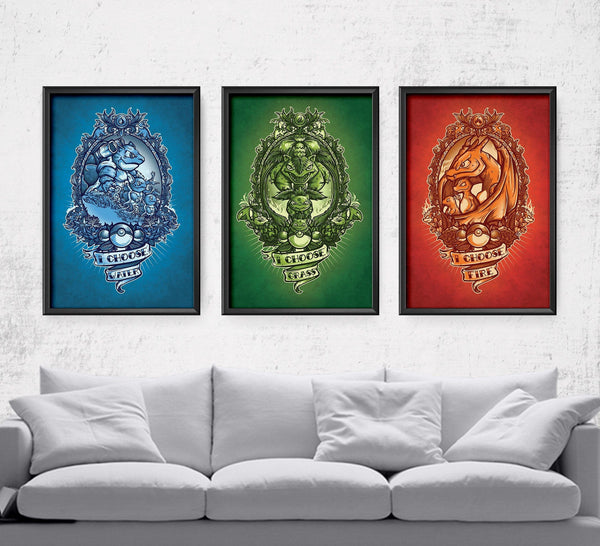 I Choose Starter Series Posters by Juan Manuel Orozco - Pixel Empire