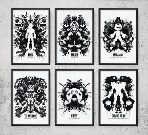 Nintendo Ink Blot Series Posters- The Pixel Empire