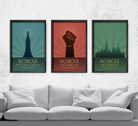 There's Always a Lighthouse Series Posters- The Pixel Empire