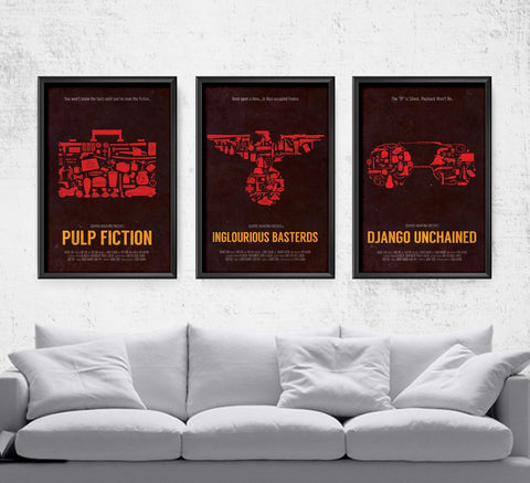 Tarantino Film Series Posters- The Pixel Empire