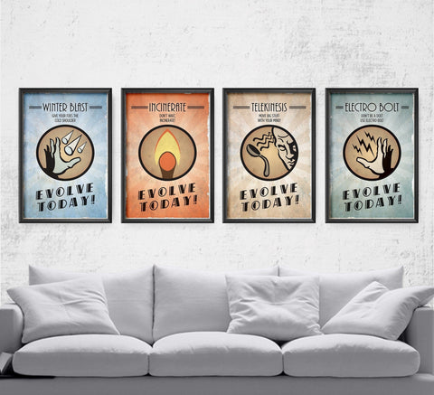 Evolve Today Plasmid Series - Pick 4 Posters by The Pixel Empire - Pixel Empire