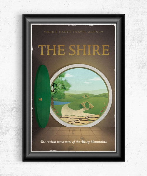 The Shire Travel Poster Posters by The Pixel Empire - Pixel Empire