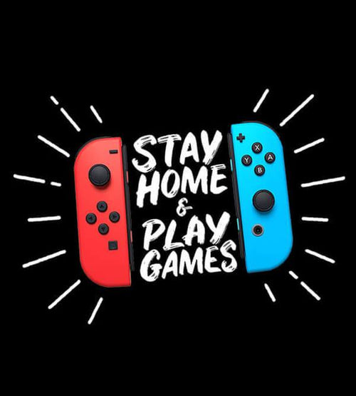 Stay Home & Play Games Hoodies by Beatemups - Pixel Empire