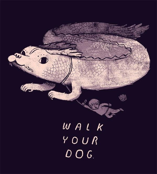 Walk Your Dog Hoodies by Louis Roskosch - Pixel Empire