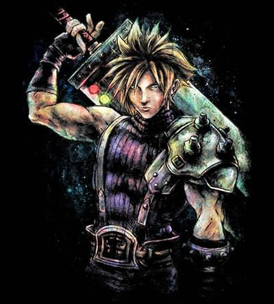 Cloud Strife T-Shirts by Barrett Biggers - Pixel Empire
