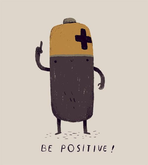 Be Positive Hoodies by Louis Roskosch - Pixel Empire
