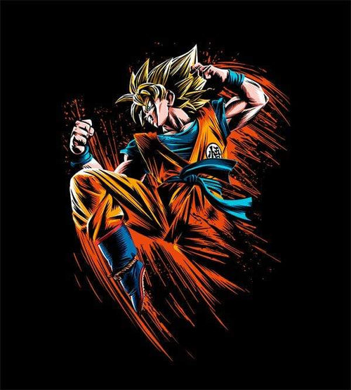 Goku Attack T-Shirts by Alberto Cubatas - Pixel Empire