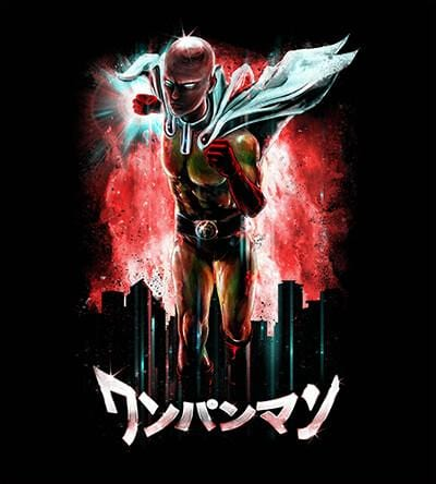 One Punch Man T-Shirts by Barrett Biggers - Pixel Empire