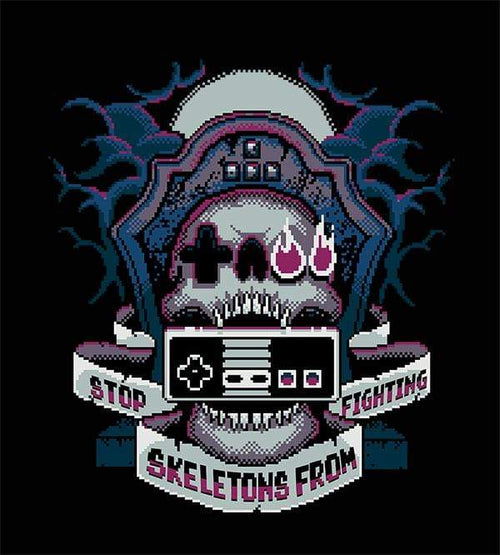 8-Bit SSFF T-Shirts by Stop Skeletons From Fighting - Pixel Empire