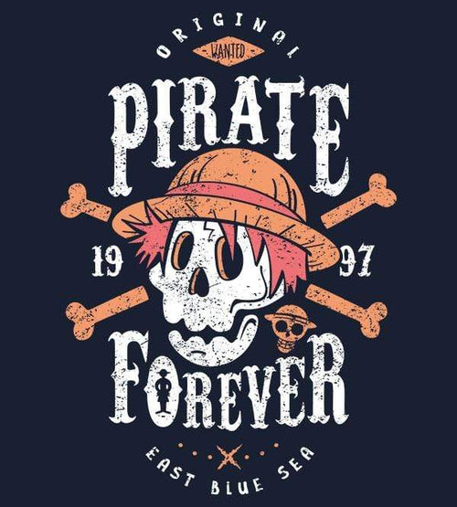 Wanted Pirate Forever T-Shirts by Olipop - Pixel Empire