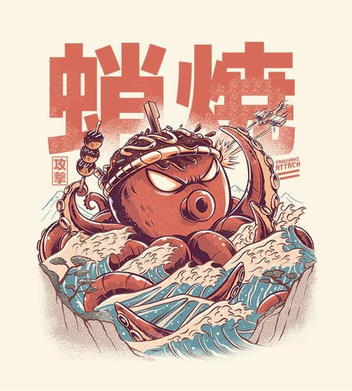 Takoyaki Attack Hoodies by Ilustrata - Pixel Empire