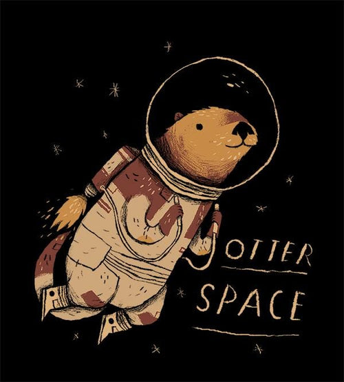Otter Space T-Shirts by Louis Roskosch - Pixel Empire