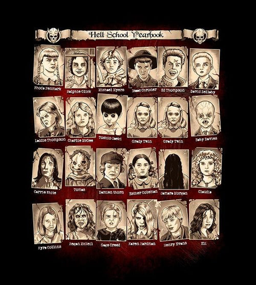 Hellschool Yearbook Hoodies by Saqman - Pixel Empire