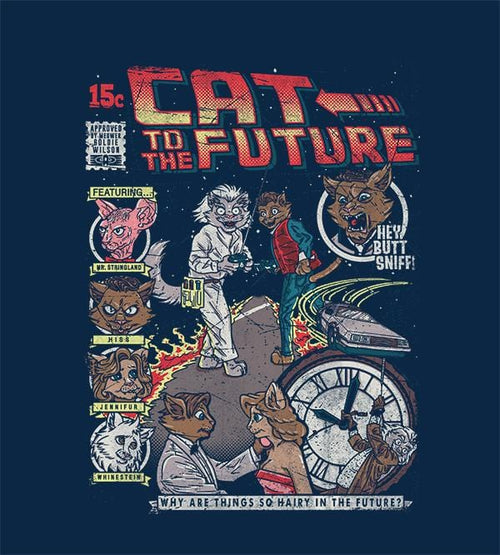 Cat To The Future T-Shirts by COD Designs - Pixel Empire
